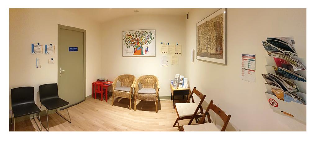 Cabinet d'ostéopahtie Sophie Duhamel salle d'attente